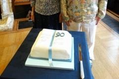 Viv, Pat & George with the cake